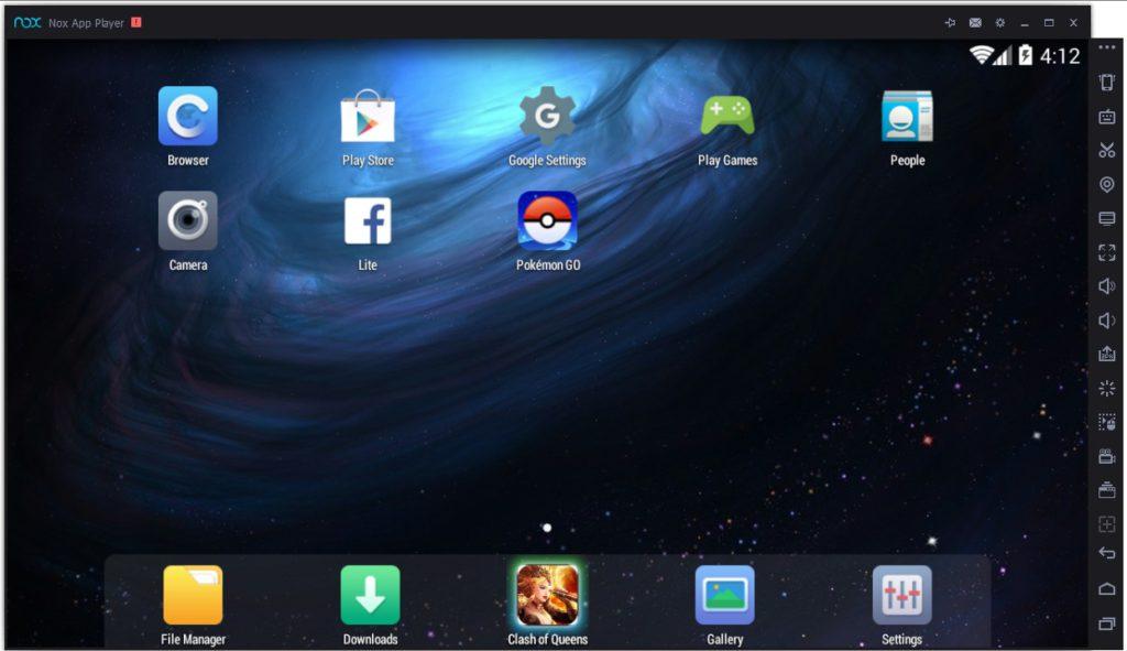 Окно Nox App Player