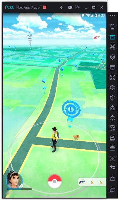 Pokemon GO на Nox App Player