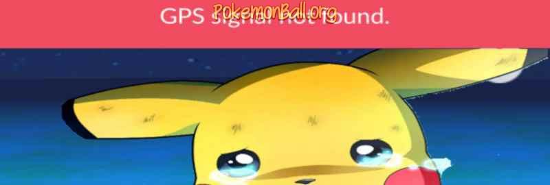«GPS signal not found» у грі Pokemon GO