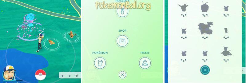 Интерфейс Pokemon GO